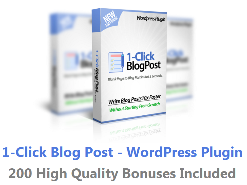 1-Click Blog Post – WordPress Plugin