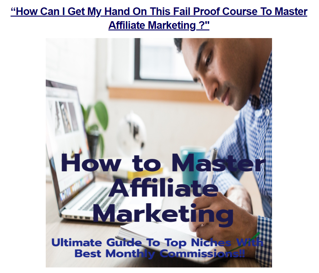 How To Master Affiliate Marketing Kit