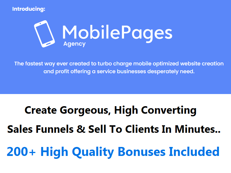 Mobile Pages Agency
