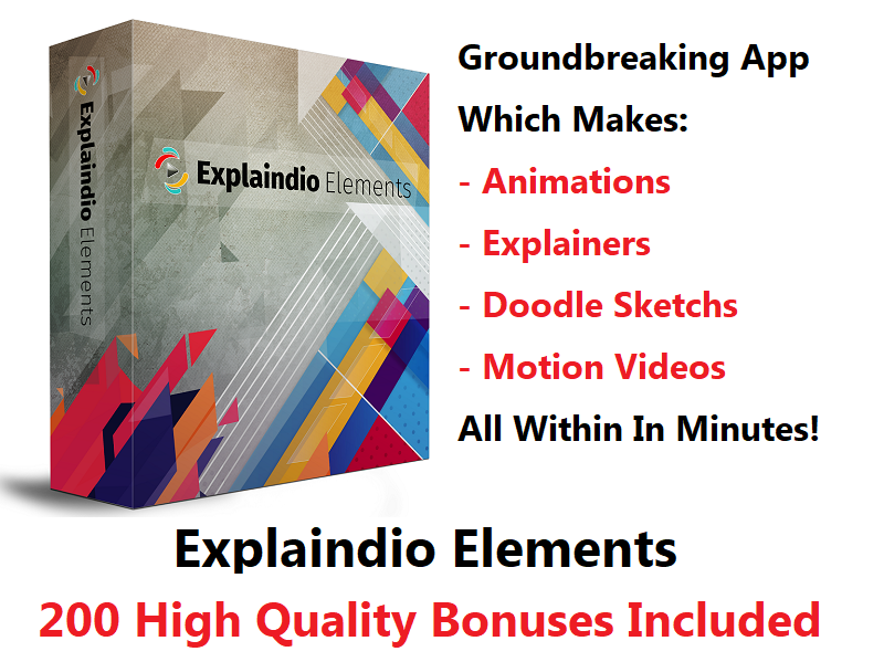 Explaindio Elements – Animation, Explainer, Doodle Sketch, And Motion Videos
