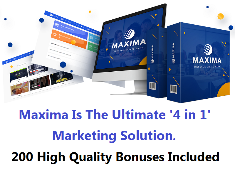 Maxima – Ultimate 4 in 1 Marketing Solution