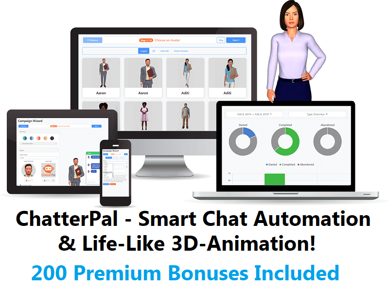 ChatterPal – Smart Chat Automation & Life-Like 3D-Animation