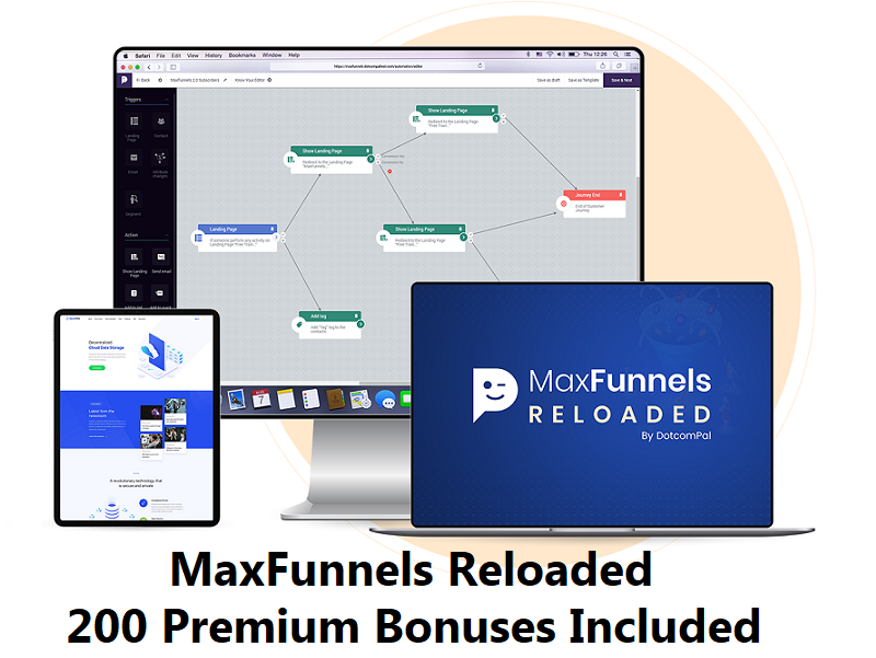 MaxFunnels – Lightning Fast & High Converting Funnel, Landing Page & Website Builder