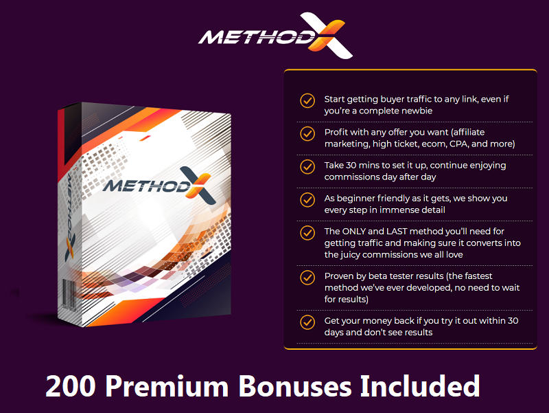 MethodX – THE SECRET? Dirt Cheap Traffic + Something To Sell